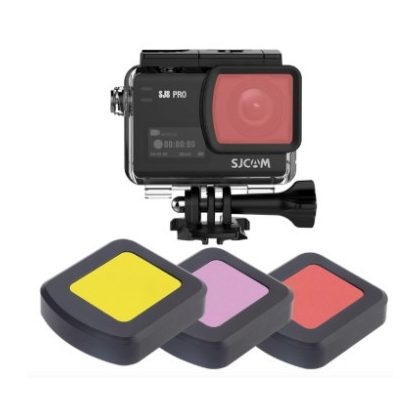 Színszűrő lencse SJCAM SJ8 kamerához (kameraházra) - piros