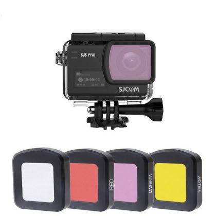 Színszűrő lencse SJCAM SJ8 kamerához (kameraházra) - rózsaszín