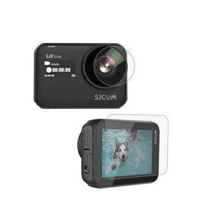 SJCAM SJ9 kamerához LCD képernyővédő és lencsevédő üvegfólia