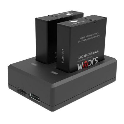 Double charging frame for SJCAM SJ9 battery (1300mAh)