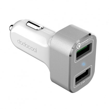Dodocool DA114WS USB charger for car auxilliary port