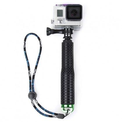 50 cm Monopod sportkamerához (gumírozott fogással, zöld aljzattal)