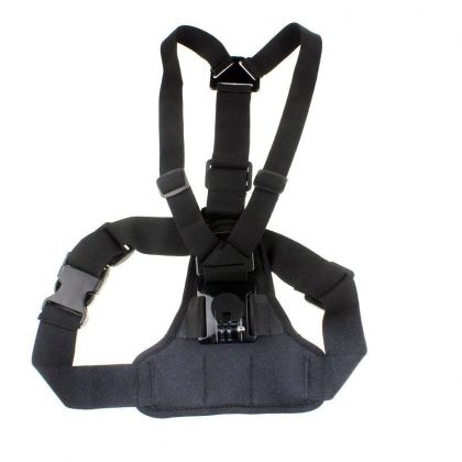 Chest strap for sports camera with padded camera holder surface sjgp-181